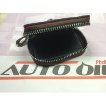 Кожен ключодържател с цип AUDI черен