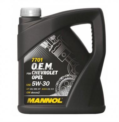 MANNOL 5W30 O.E.M 7701 CHEVROLET/OPEL 4L
