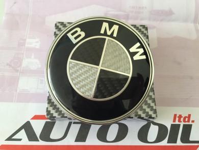 ЕМБЛЕМА  ПРЕДНА КАРБОН BMW 82mm