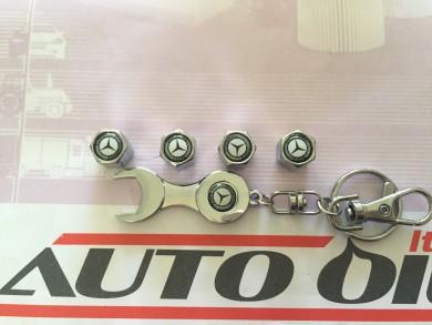 Ключодържател+капачки  винтили Mercedes